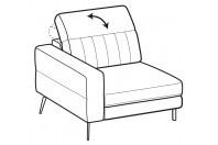 Sofas Egon 1-er lateral element