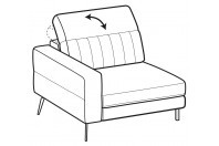 Sofas Egon 1-er maxi lateral element