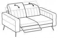 Sofas Egon 2-er sofa with 1 relax