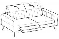Sofas Egon 3-er sofa with 1 relax