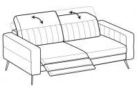 Sofas Egon 3-er maxi sofa with 1 relax