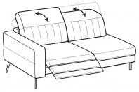 Sofas Egon 3-er lateral element with 1 relax