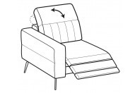 Sofas Egon 1-er small lateral element with relax