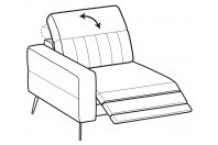 Sofas Egon 1-er lateral element with relax