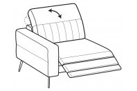 Sofas Egon 1-er maxi lateral element with relax