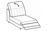 Sofas Egon 1-er small central element with relax