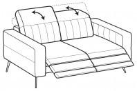 Sofas Egon 2-er sofa with 2 relax