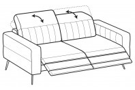 Sofas Egon 3-er sofa with 2 relax