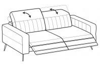 Sofas Egon 3-er maxi sofa with 2 relax