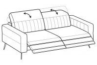 Sofas Egon 4-er sofa with 2 relax