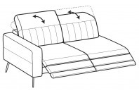 Sofas Egon 3-er lateral element with 2 relax