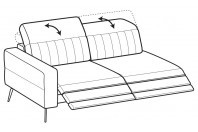 Sofas Egon 3-er maxi lateral element with 2 relax