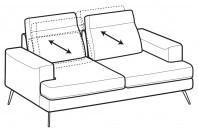 Sofas Emmet 2-er sofa