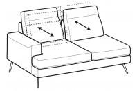 Sofas Emmet 2-er lateral element