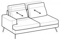 Sofas Emmet 3-er lateral element