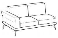 Sofas Estate 2-er maxi lateral element