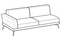Sofas Estate 3-er maxi lateral element