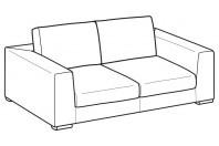 Sofas Forest 2-er maxi sofa