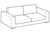 Sofas Forest 3-er maxi sofa