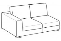 Sofas Forest 2-er maxi lateral element