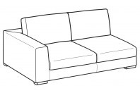 Sofas Forest 3-er lateral element