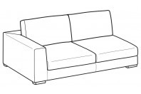 Sofas Forest 3-er maxi lateral element