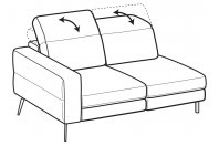Sofas Gareth 2-er lateral element