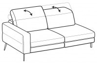 Sofas Gareth 3-er maxi lateral element