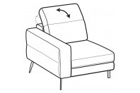 Sofas Gareth 1-er small lateral element