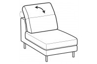 Sofas Gareth 1-er small central element