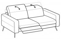 Sofas Gareth 3-er sofa with 1 relax