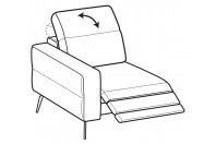 Sofas Gareth 1-er small lateral element with relax