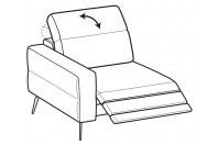 Sofas Gareth 1-er lateral element with relax