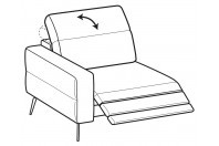 Sofas Gareth 1-er maxi lateral element with relax