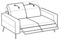 Sofas Gareth 2-er sofa with 2 relax