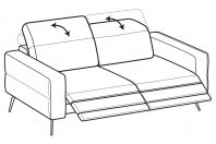 Sofas Gareth 3-er sofa with 2 relax