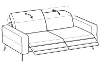 Sofas Gareth 4-er sofa with 2 relax