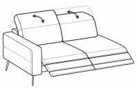 Sofas Gareth 3-er lateral element with 2 relax