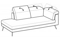 Sofas Gareth Angular side element