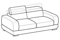 Sofas Graffiti 3-er maxi sofa