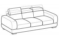 Sofas Graffiti 4-er sofa