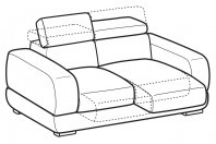 Sofas Graffiti 2-er sofa with sliding seats