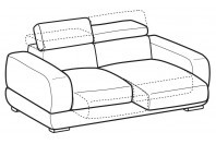 Sofas Graffiti 3-er sofa with sliding seats