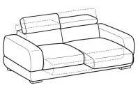 Sofas Graffiti 3-er maxi sofa with sliding seats