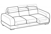 Sofas Graffiti 4-er sofa with sliding seats