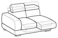 Sofas Graffiti 2-er lateral element with sliding seats