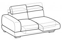 Sofas Graffiti 3-er lateral element with with sliding seats