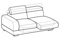 Sofas Graffiti 3-er maxi lateral element with sliding seats