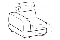 Sofas Graffiti 1-er lateral element with sliding seat
