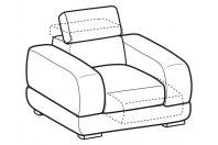 Sofas Graffiti Armchair with sliding seat